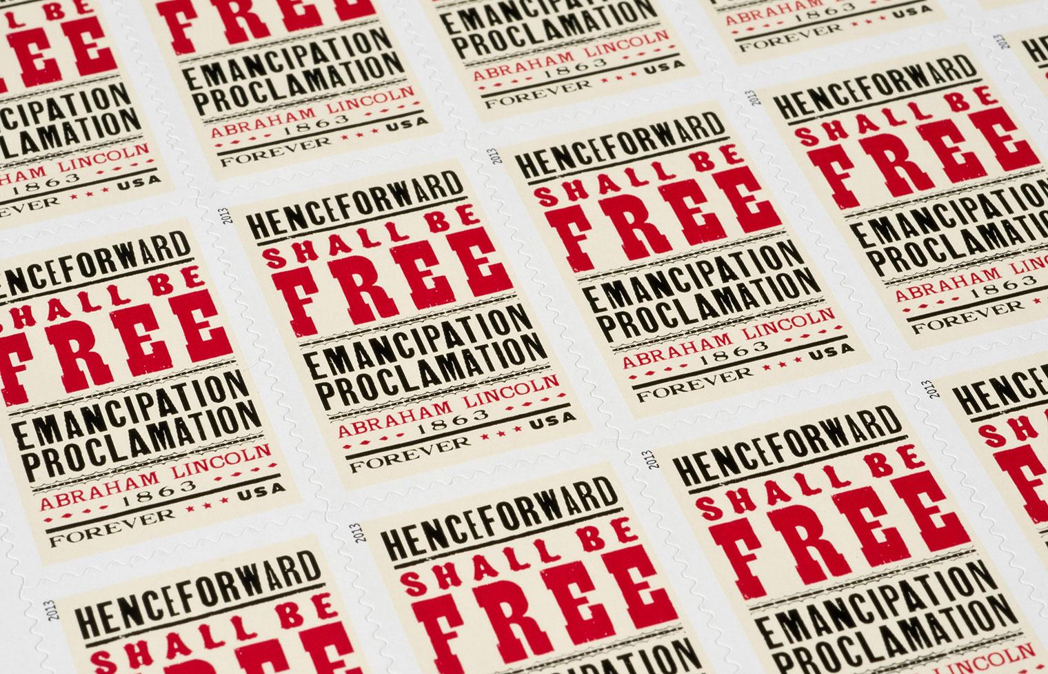 Emancipation Proclamation Stamp Sheet