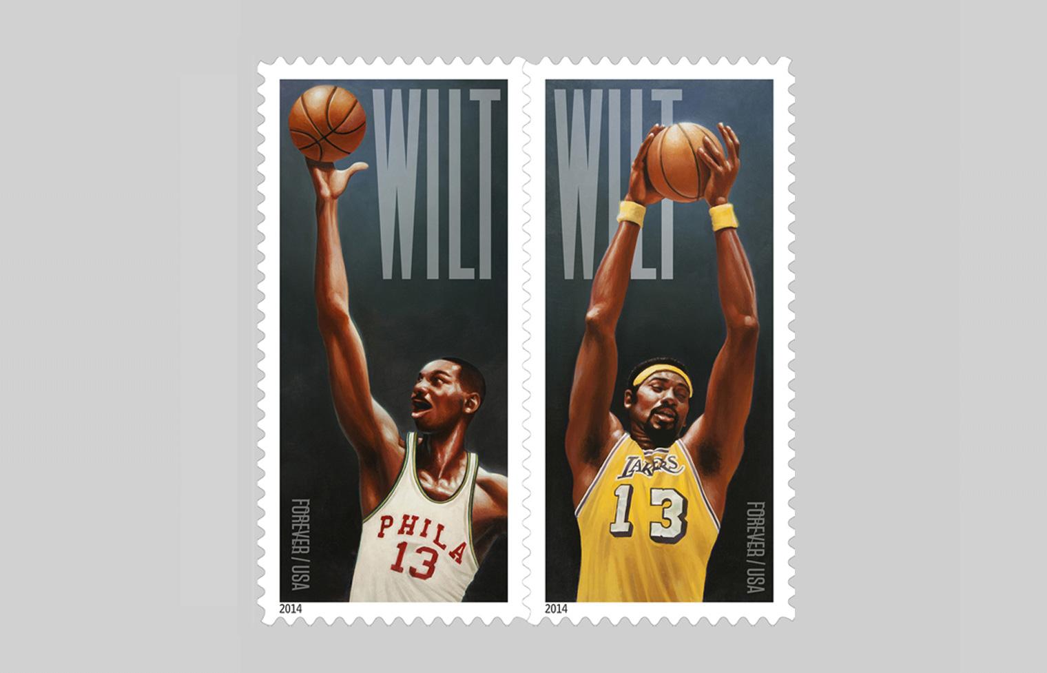 Wilt Chamberlain Stamp