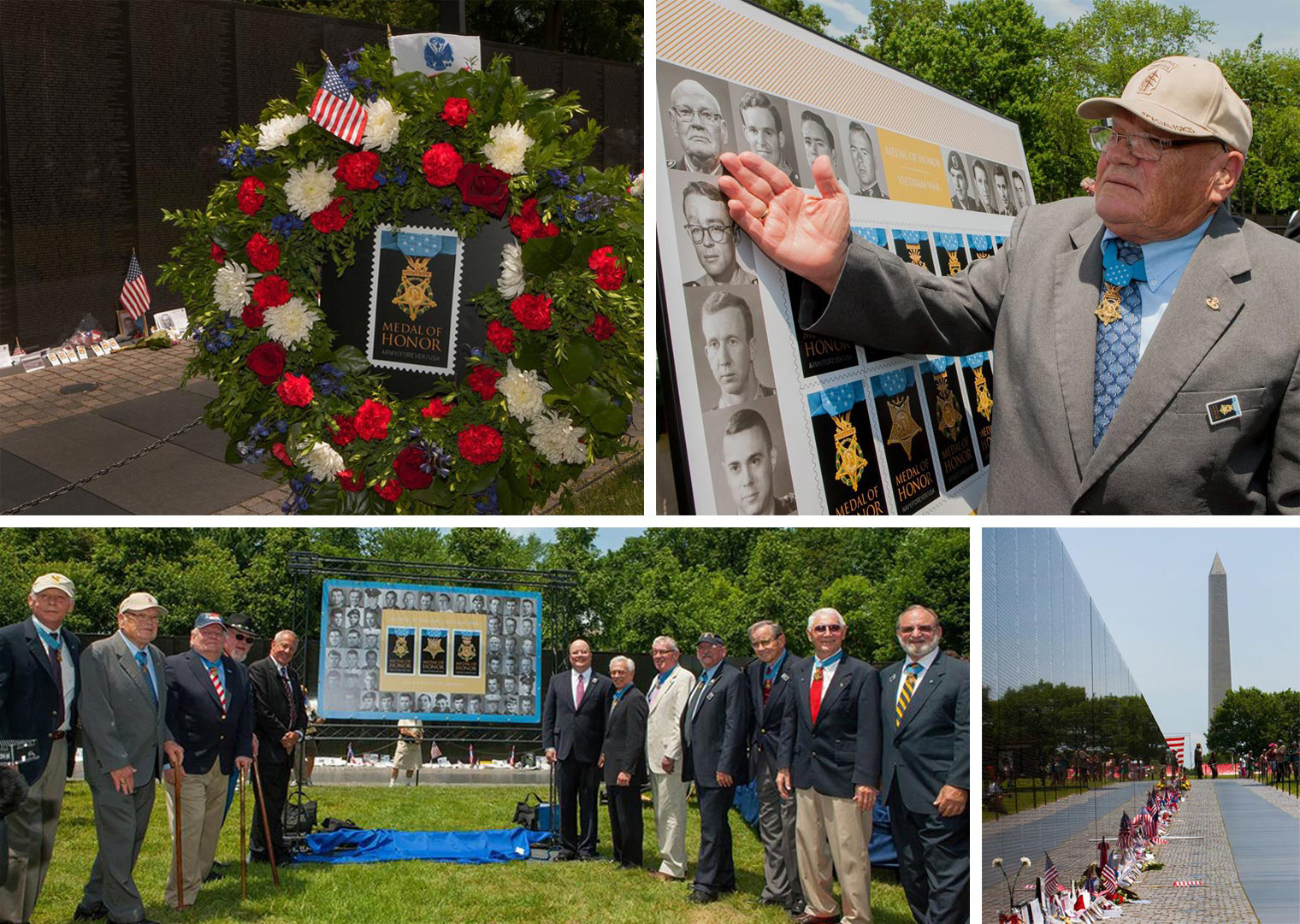 Medal of Honor Unveiling at the Vietnam War Memorial