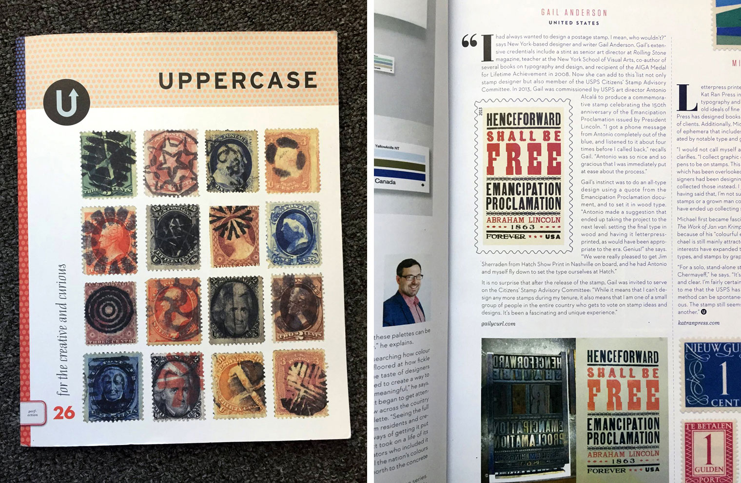 Emancipation Proclamation Stamp in Uppercase Magazine