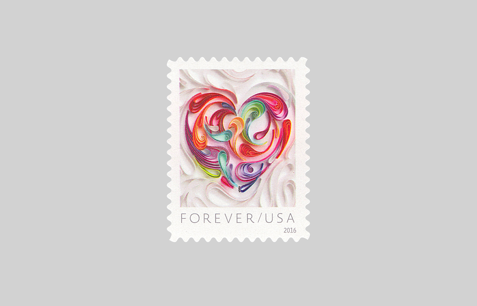 Quilled Love Stamp