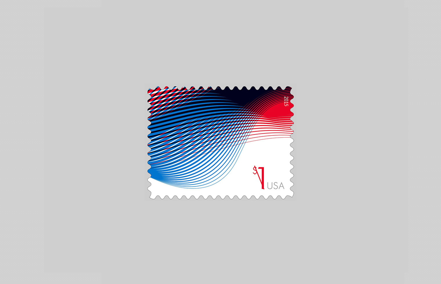 Patriotic Waves Stamp