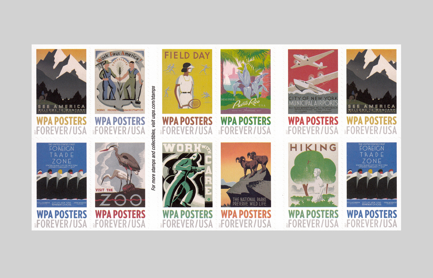 WPA Posters Stamp