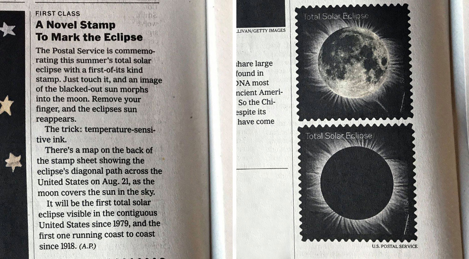 Total Eclipse of the Sun in NY Times