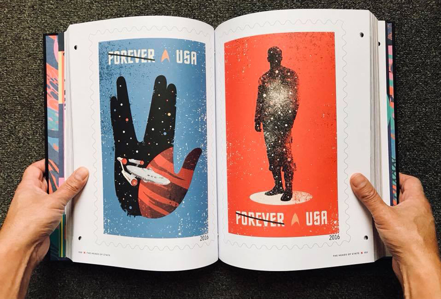 Star Trek Stamp in American Illustrators 36