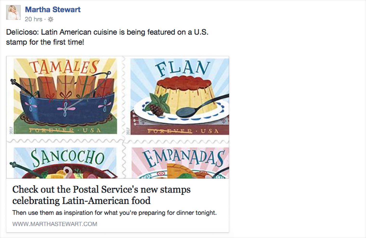 Delicioso Stamp on Martha Stewart