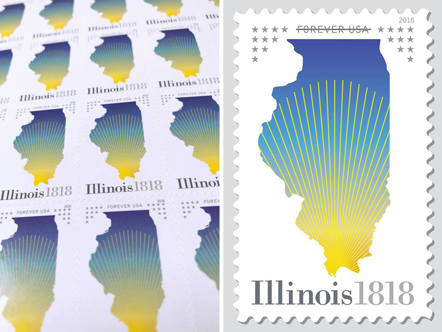 Illinois Statehood Stamp