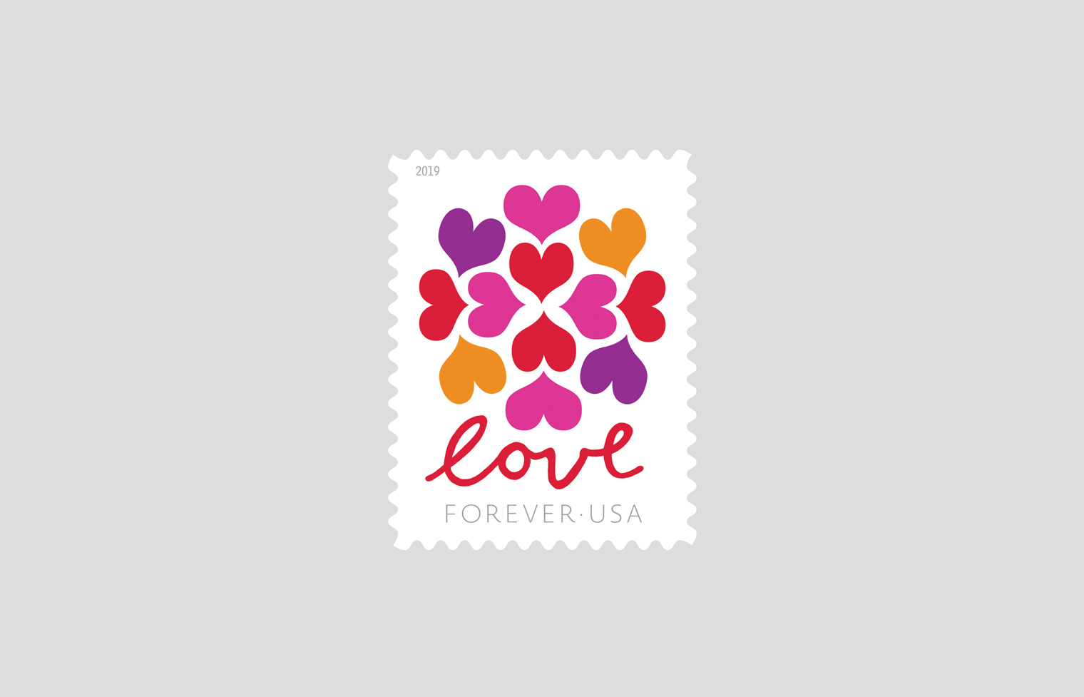 Heart Blossom Love Stamp