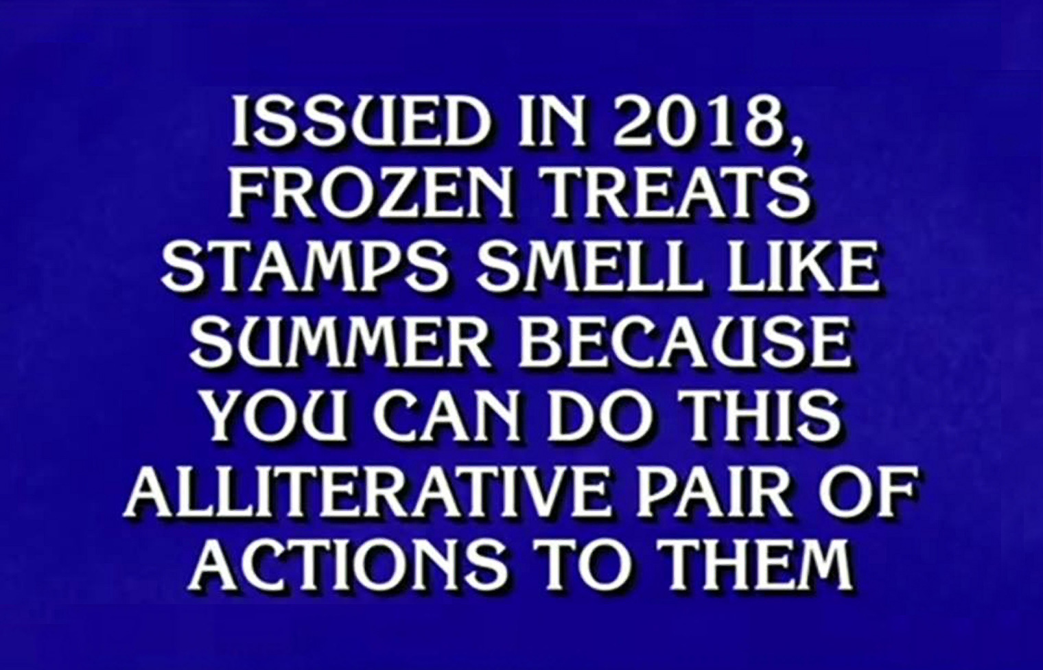 Jeopardy! Frozen Treats