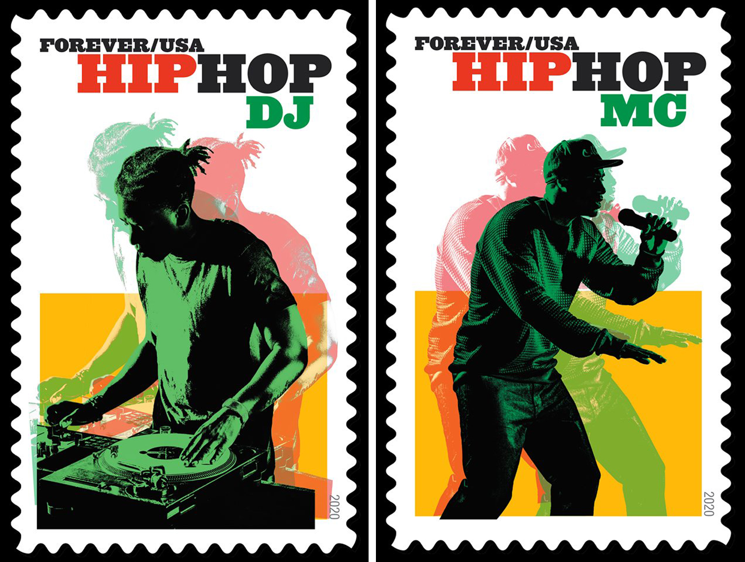 Hip Hop Stamp—DJ and MC