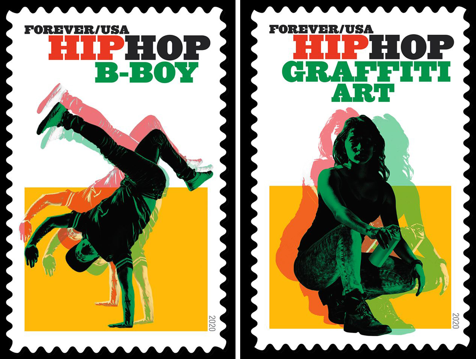 Hip Hop Stamp—BBoy and Graffiti