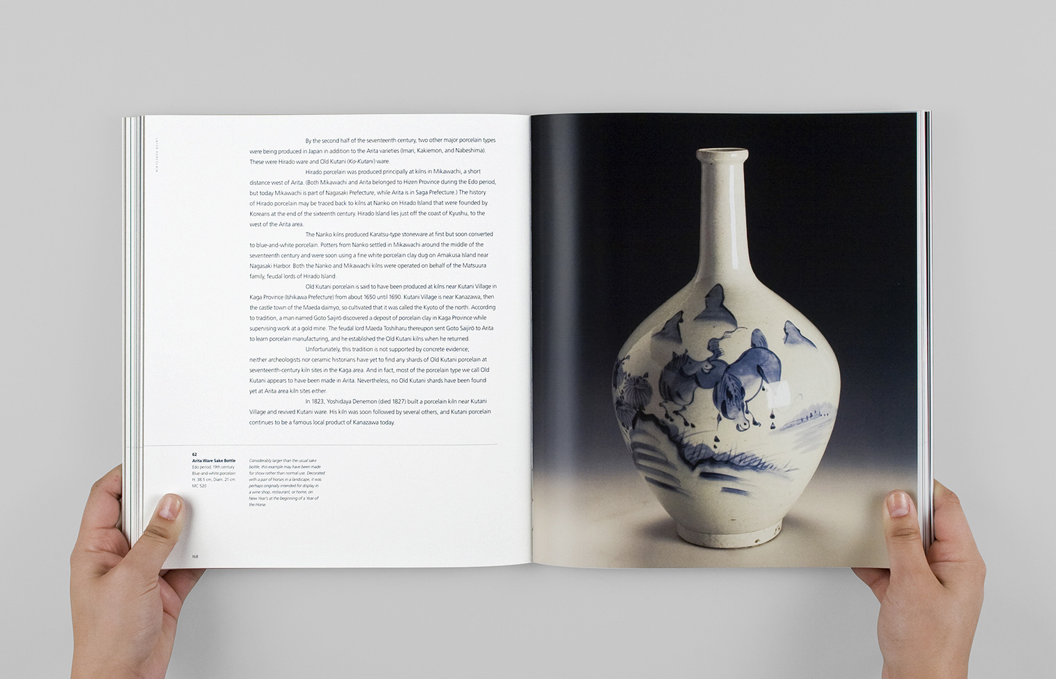 "An essay from the section ""Later Porcelain"" features an Arita ware sake bottle."