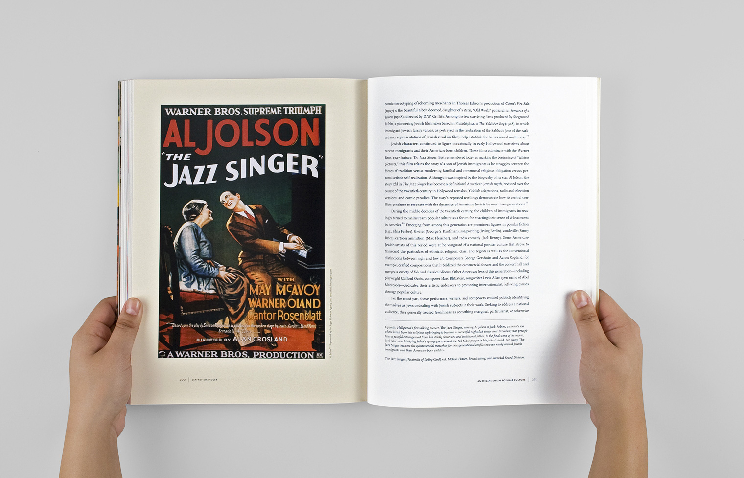 "The chapter ""American Jewish Popular Culture"" features this poster for Al Jolson in ""The Jazz Singer."""