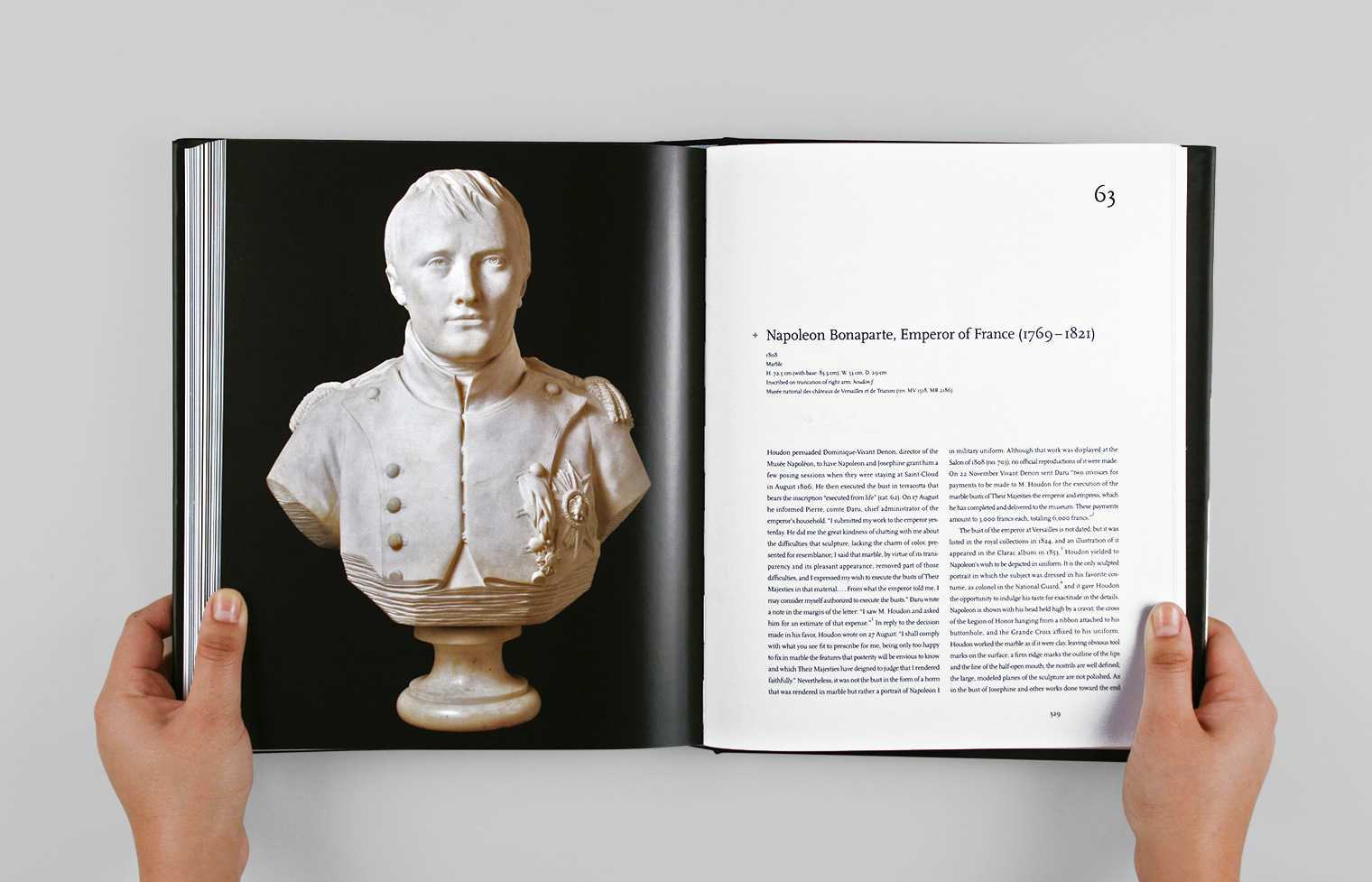 Catalogue entry 63 features a bust of Napoleon Bonaparte.