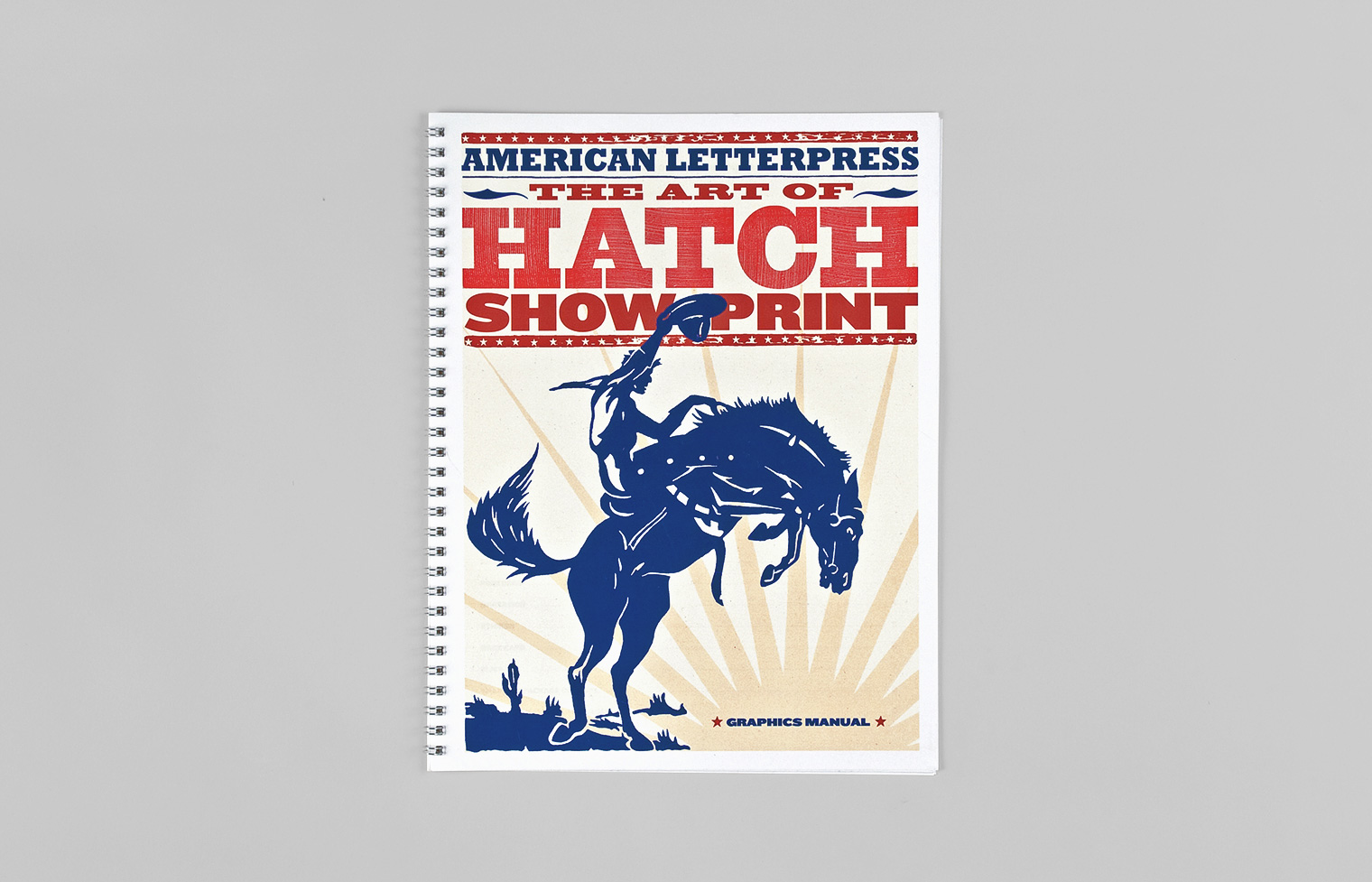 Type suggesting letterpress handbills and imagery adapted from a Hatch poster, evoke the art and spirit of the exhibition.