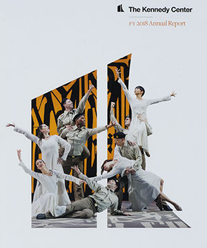 Thumbnail image of the cover of the 2018 annual report for The Kennedy Center