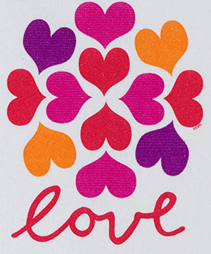 Thumbnail image of the Hearts Blossom stamps for the United States Postal Service