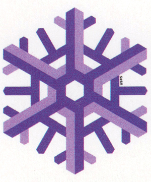 Thumbnail image of the Geometric Snowflakes stamp for the United States Postal Service
