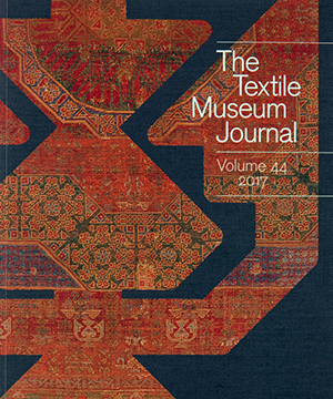Thumbnail image of the Textile Museum Journal cover for the Textile Museum