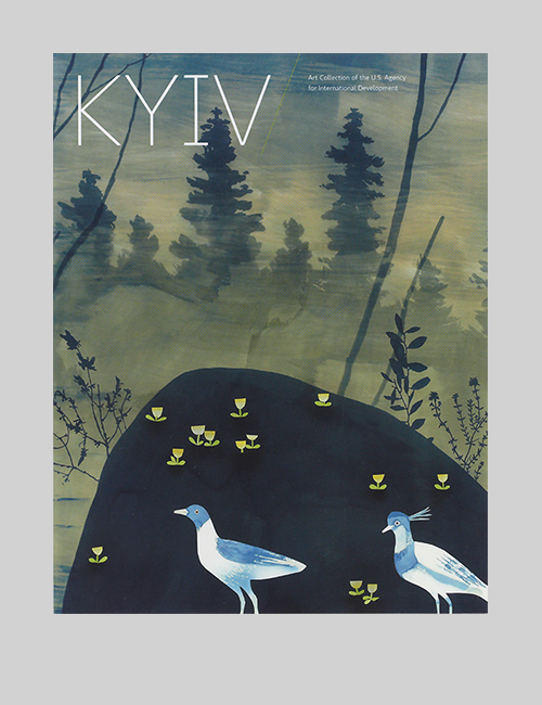 Thumbnail image of the cover of the Kyiv catalogue for Art in Embassies.