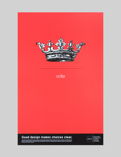 Vote poster for the AIGA DC Chapter.