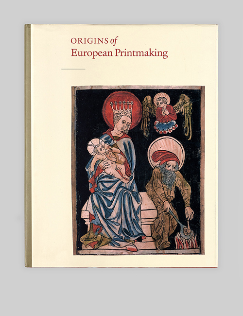 Thumbnail image of the Origins of European Printmaking catalogue for the National Gallery of Art.