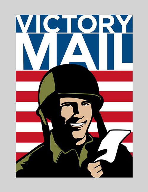 Thumbnail image of the Victory Mail exhibition design for the National Postal Museum.