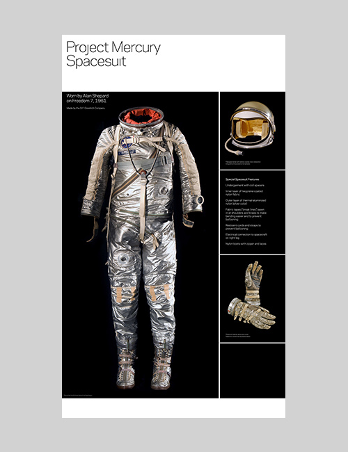 Thumbnail image of the Suited for Space exhibition design for the Smithsonian Institution Traveling Exhibition Service.