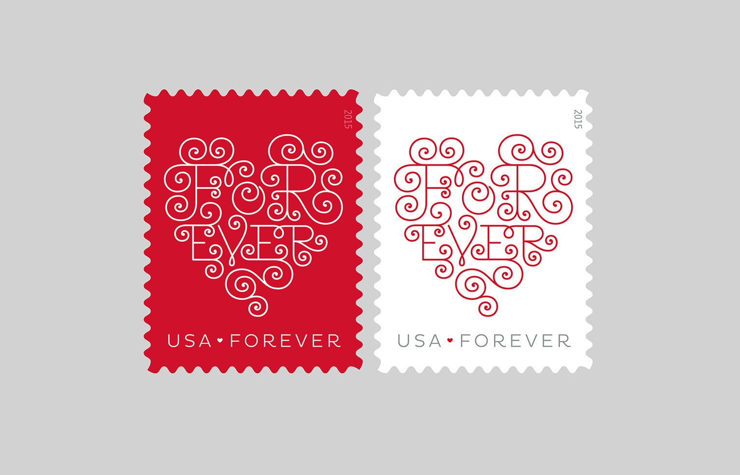 Forever Love Hearts stamp.