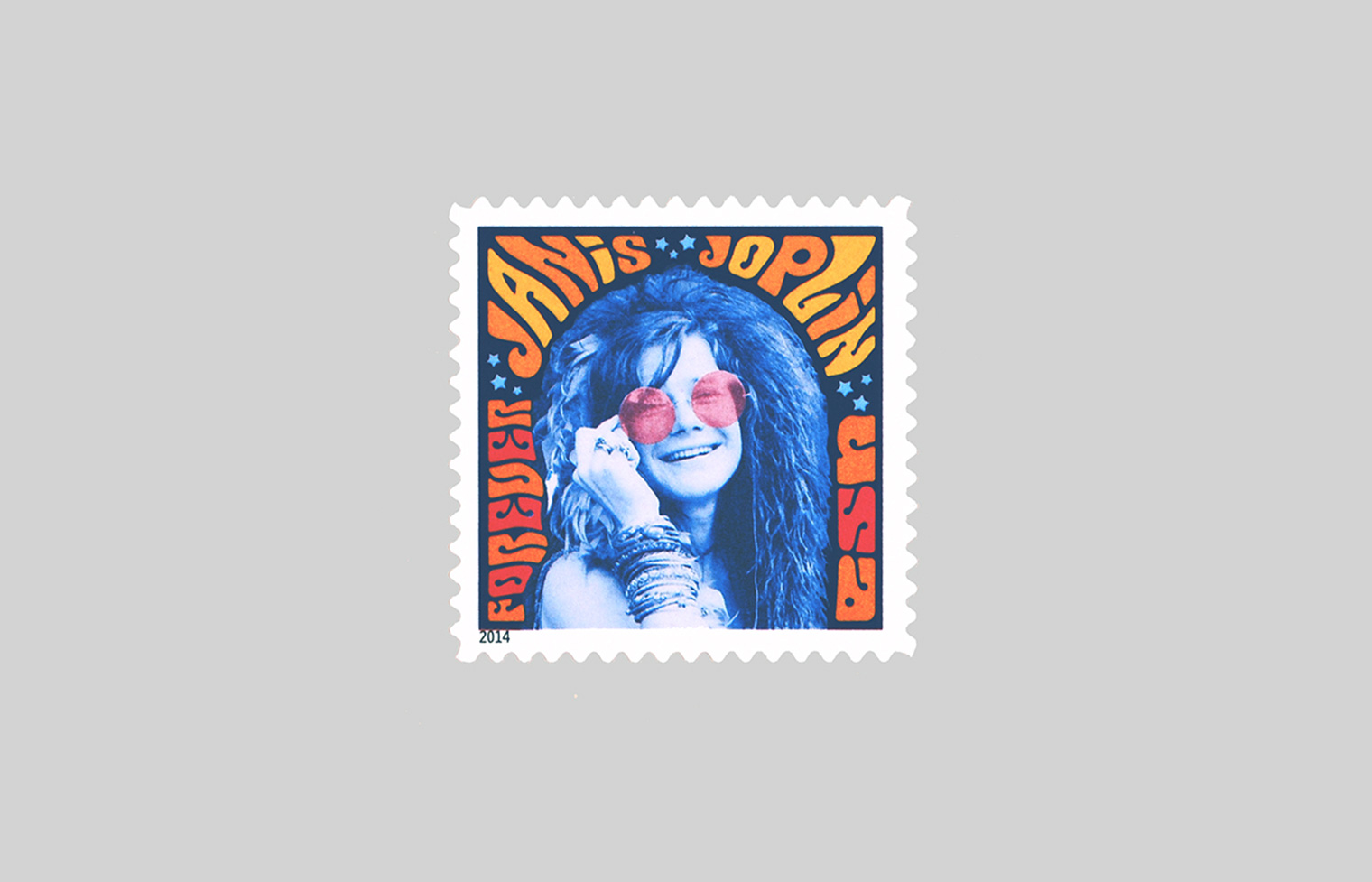 Musical Icons: Janis Joplin stamp.