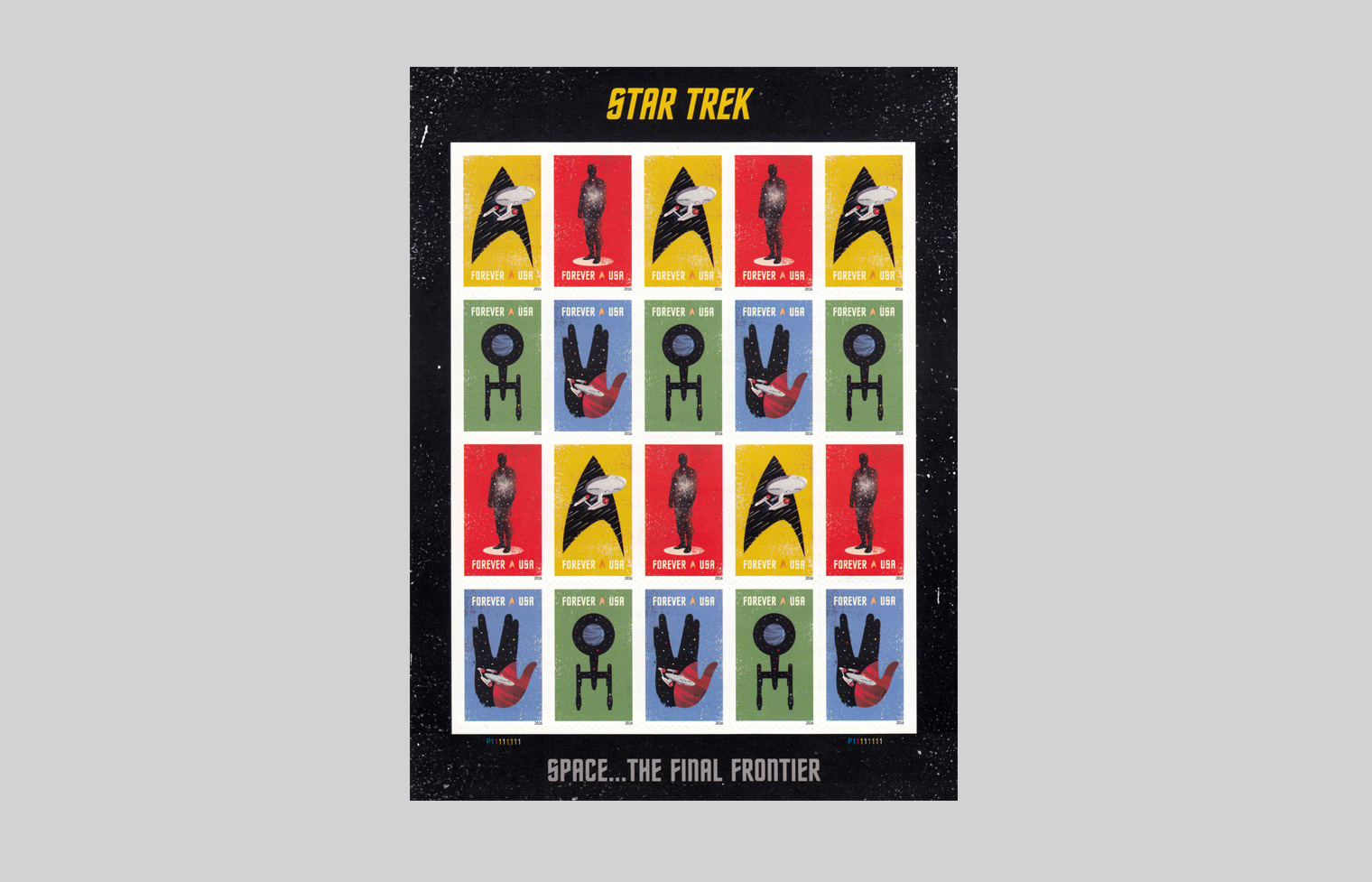 Star Trek stamp sheet.
