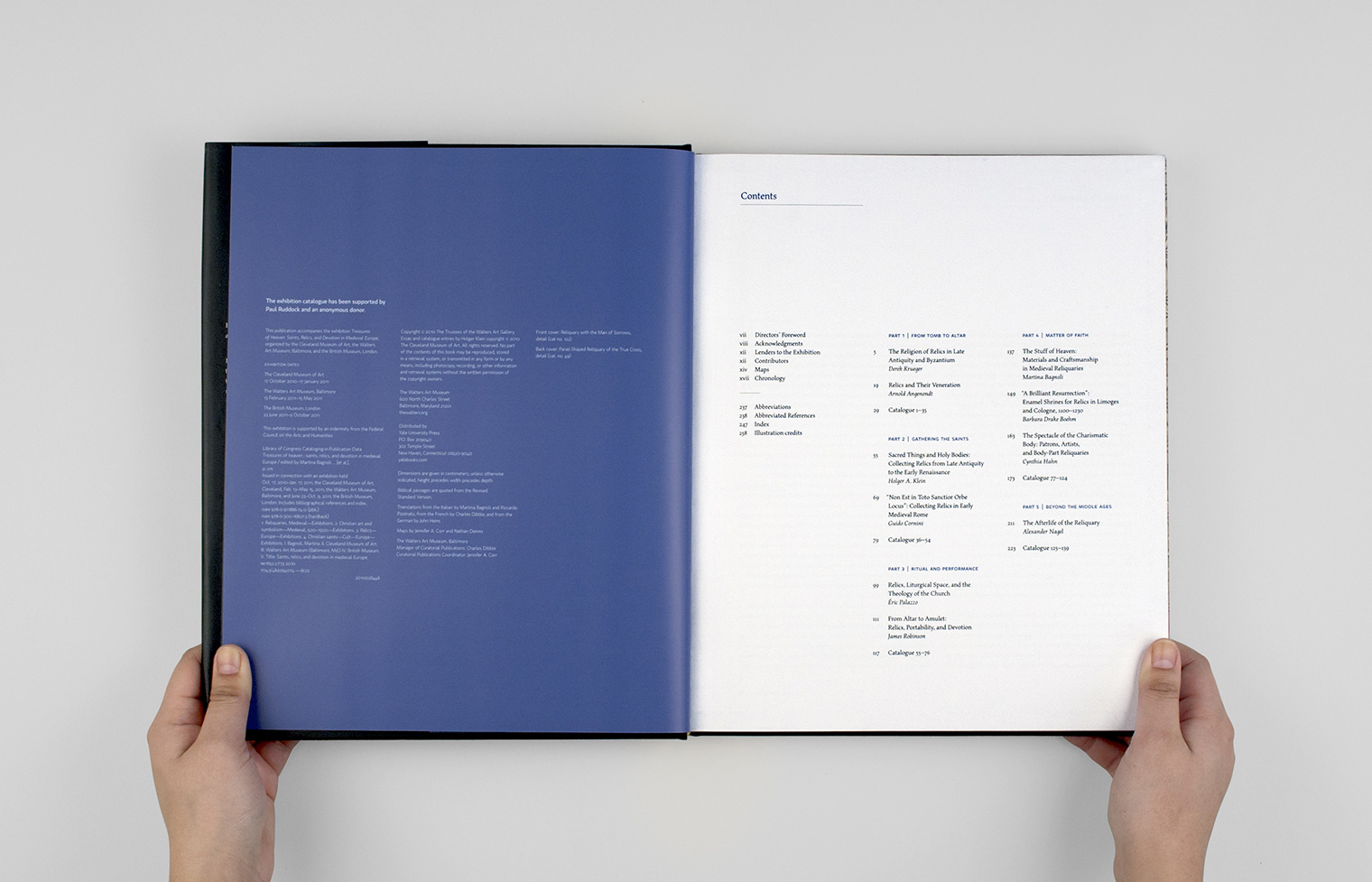 The copyright and contents pages.