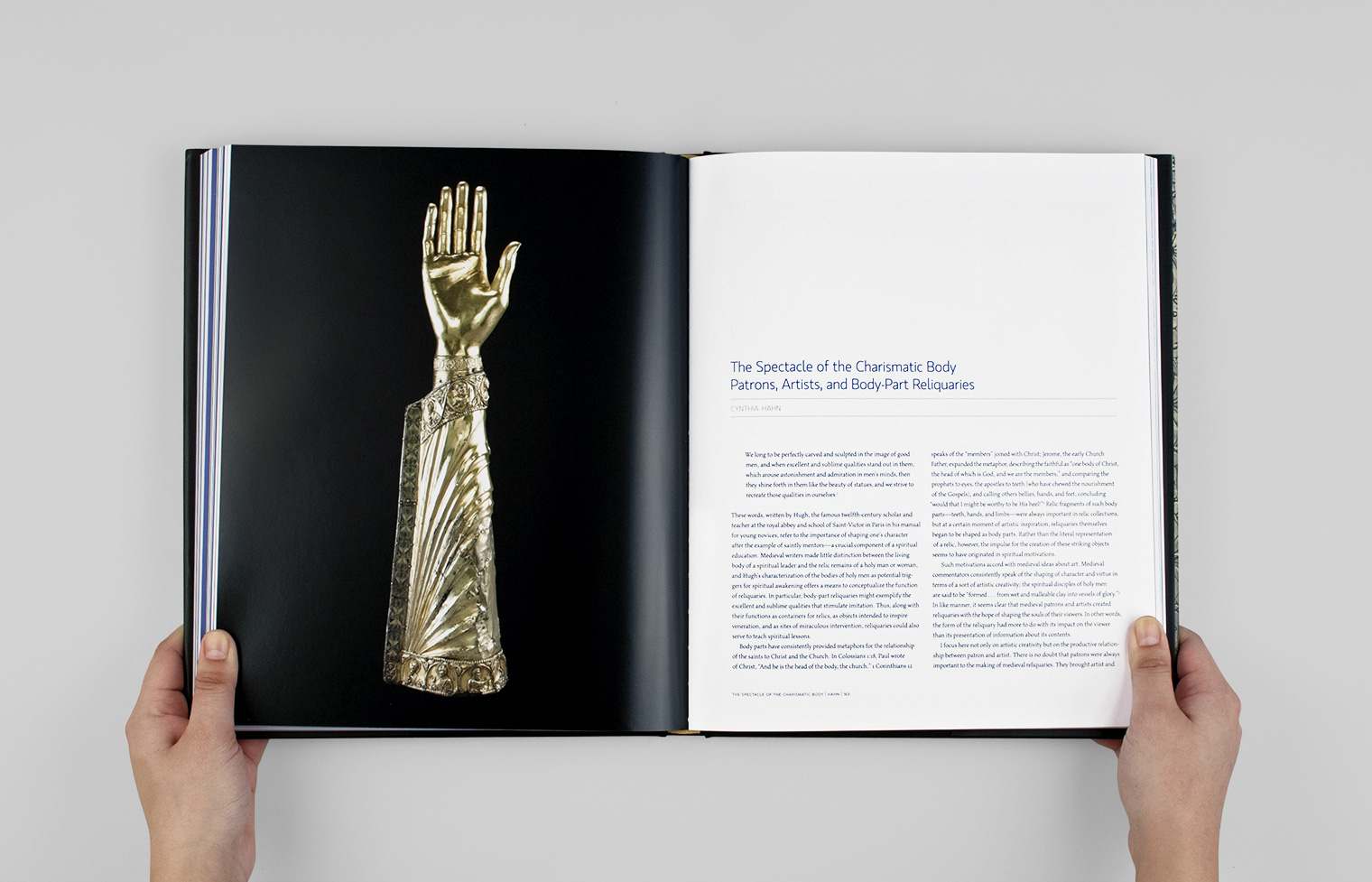 An essay opener featuring a reliquary for the arm bone of an unidentified saint.