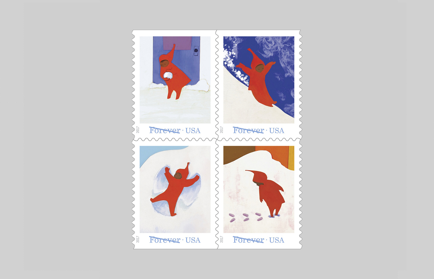 The Snowy Day Stamp