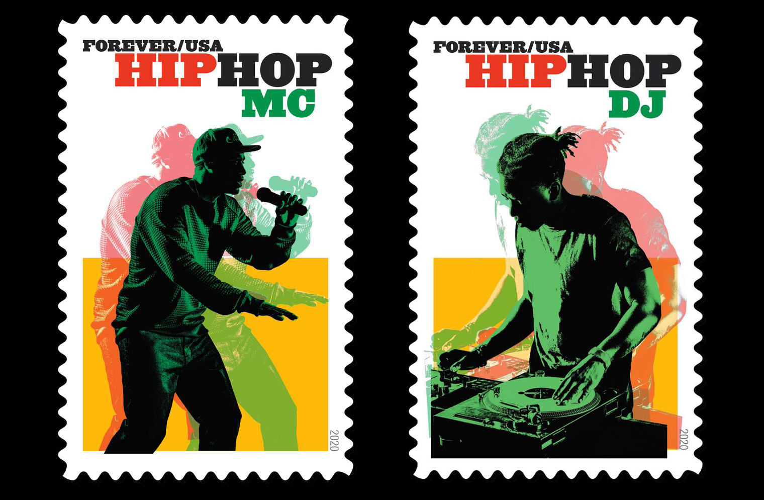 hip hop stamps—mc and dj