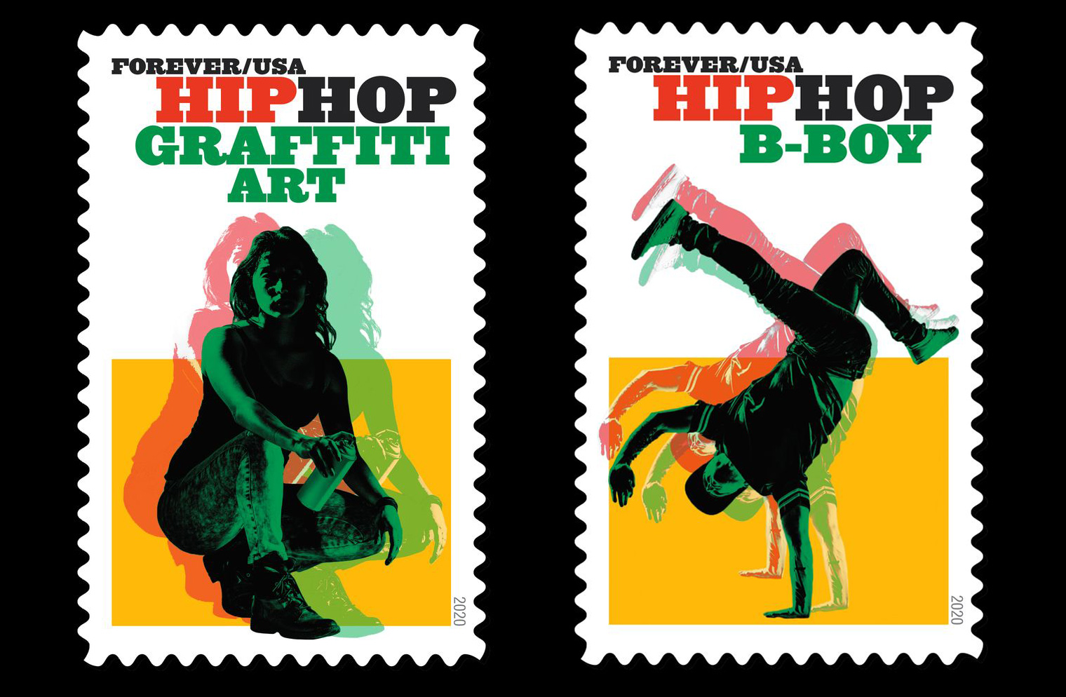 hip hop stamps—graffiti and bboy