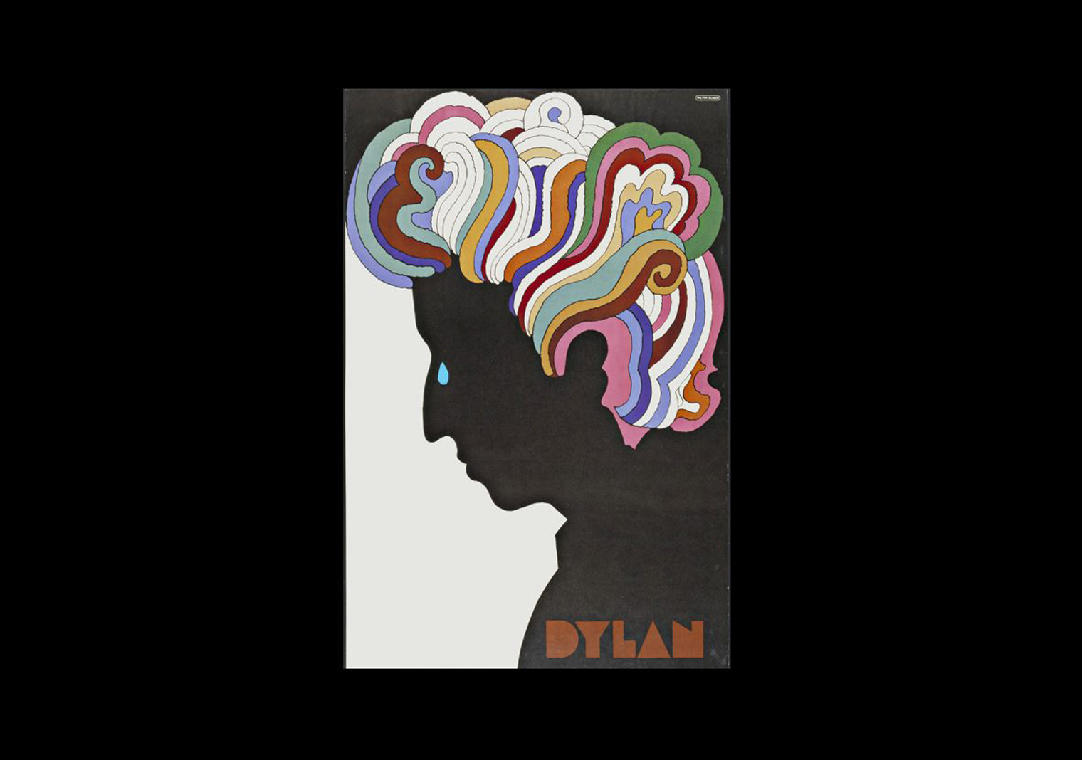 Modified image of Dylan Poster for the death of Milton Glaser